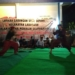 ua orang Pesilat Betawi saat memperagaan jurus dalam sosialisasi Pilkada Kota Tangerang 2018 di Kantor Kecamatan Larangan