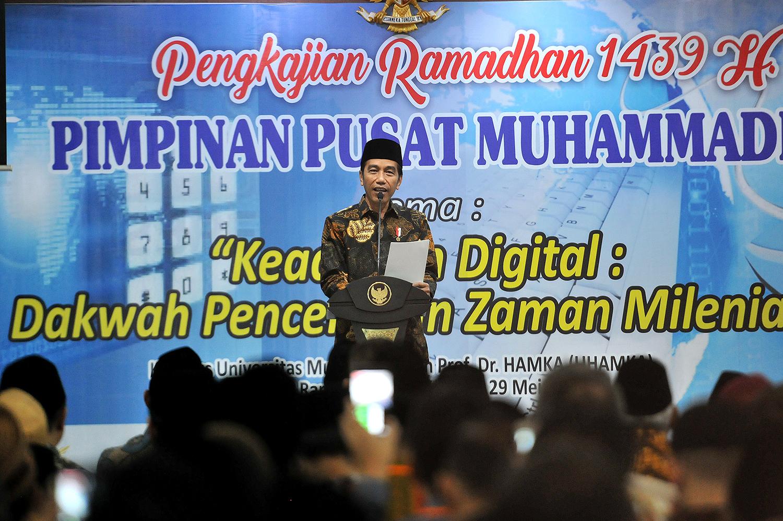 Beri Kritik Yang Disertai Solusi, Presiden Jokowi Ucapkan Terima Kasih Kepada Muhammadiyah