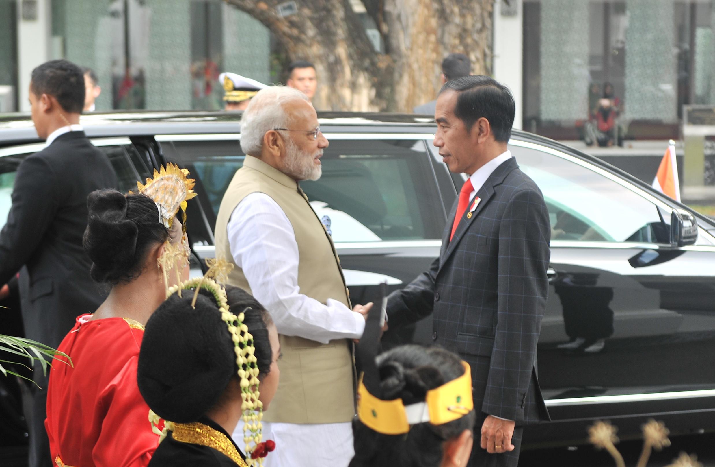 Presiden Jokowi Terima Kunjungan Kenegaraan PM India Narendra Modi