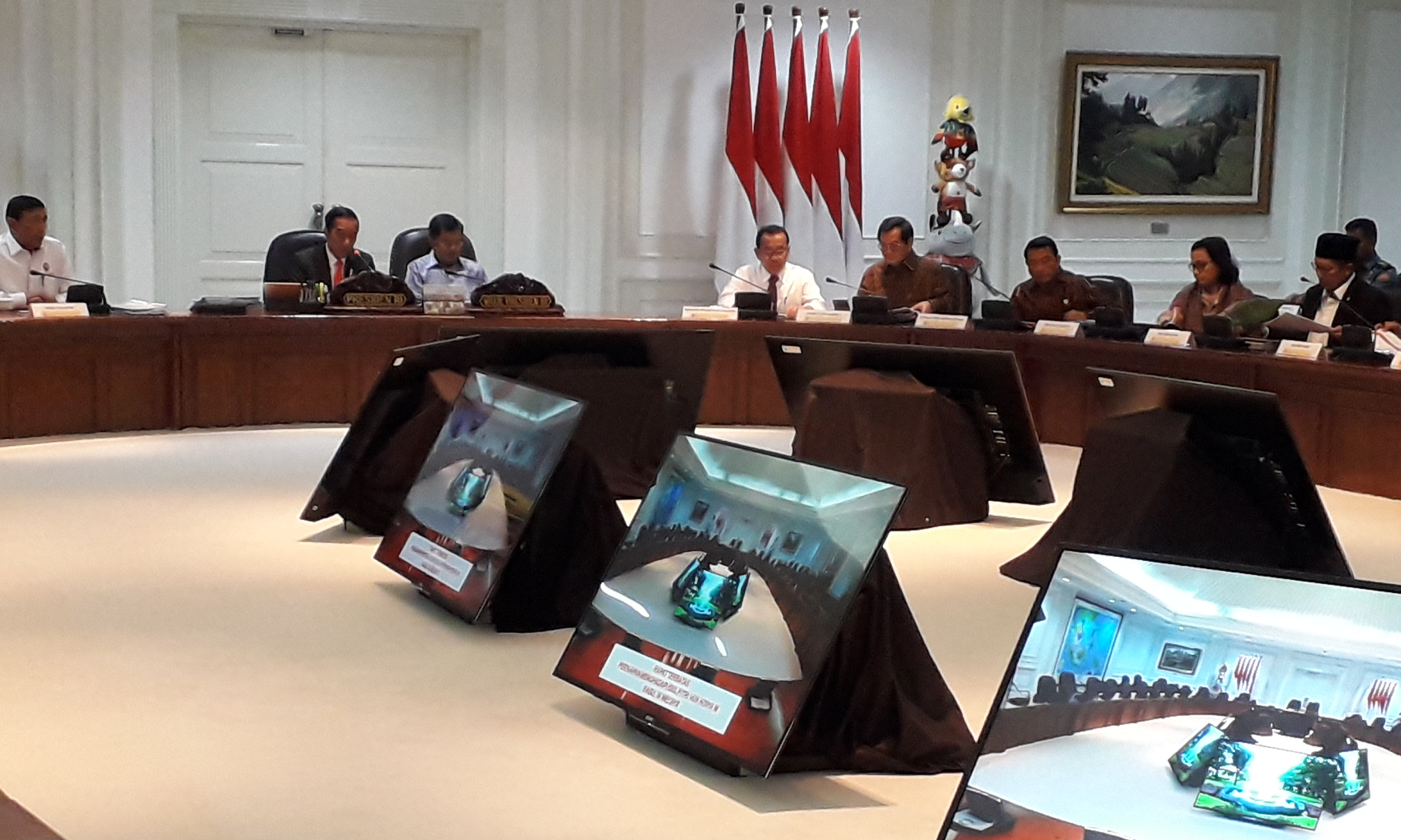 Presiden Jokowi Yakin Sinergi Polri, TNI, dan BIN Mampu Tangkal Gangguan Keamanan Idulfitri 1439H