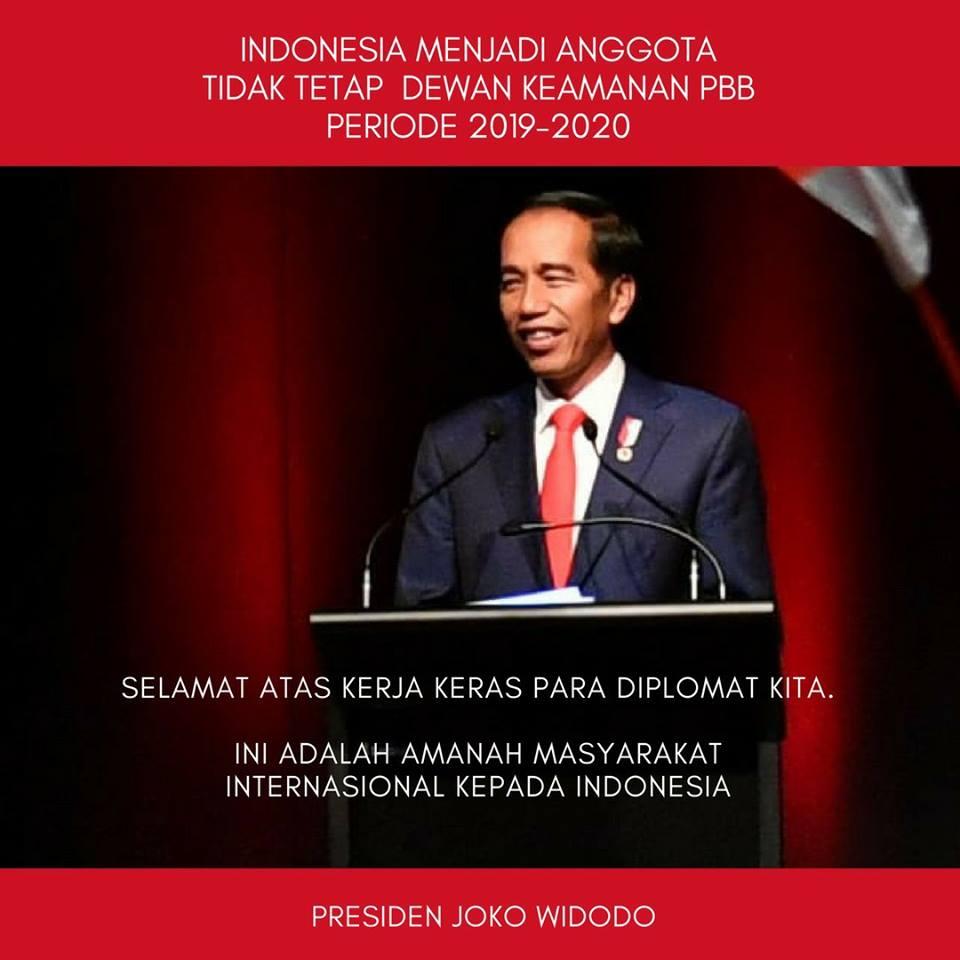 Jadi Anggota DK PBB, Presiden Jokowi: Peran Indonesia di Tingkat Global Akan Makin Meningkat