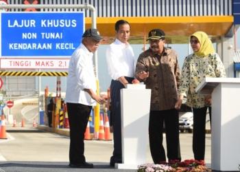 Resmikan Tol Gempol – Pasuruan, Presiden Jokowi: Akhir 2018, Tol Merak – Pasuruan Sudah Operasional