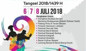 100 Stand UKM Ramaikan Lebaran Betawi Tangsel 2018