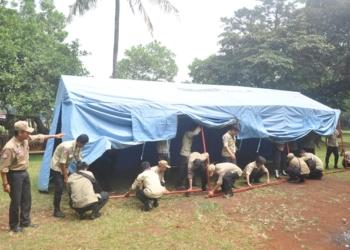 Genjot Ketangkasan, Tagana Dilatih Bangun Tenda