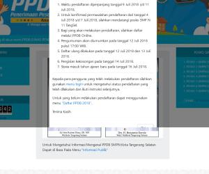 Situs Pendaftaran PPDB Online SMP di Tangsel ppdb.dikbudtangsel.com Sudah Bisa Diakses