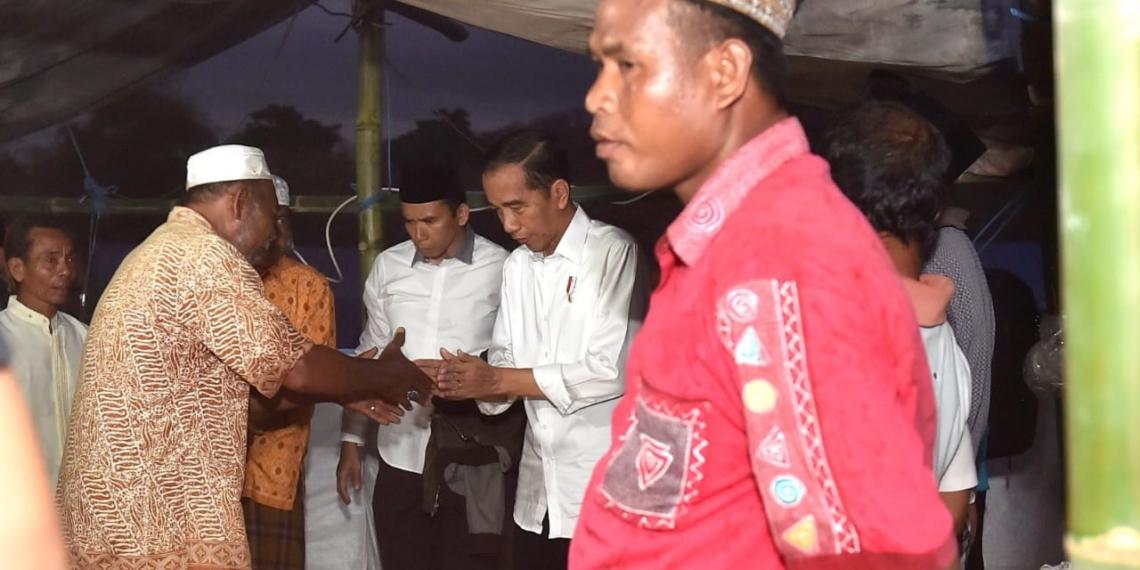 Langsung Tinjau Posko Pengungsian, Presiden Temui Korban Gempa di Lombok Utaray