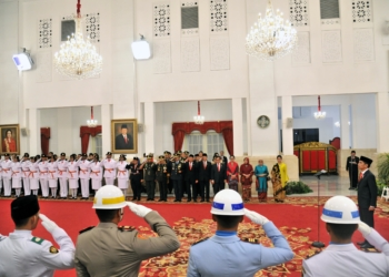 Presiden Jokowi Kukuhkan Pasukan Pengibar Bendera Pusaka 2018