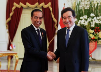 Bertemu Presiden Jokowi, PM Korsel Sebut Pembukaan Asian Games 2018 Sangat Impresif