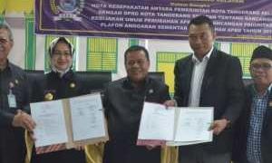 KUA PPAS APBD Perubahan Kota Tangsel Tahun 2018 Ditandatangani