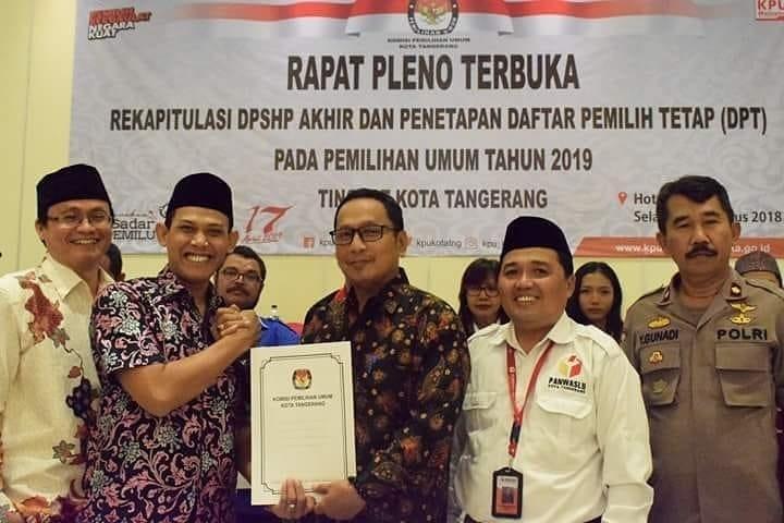 Inilah DPT Pemilu 2019 di Kota Tangerang