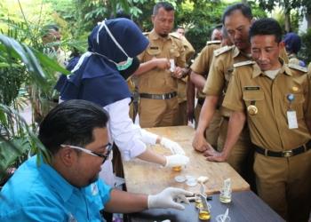 Tes Urine di Kecamatan Pinang, 1 Pegawai THL Positif Narkoba