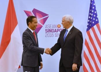 Bertemu Mike Pence, Presiden Jokowi Bahas Kerja Sama di Tiga Bidang