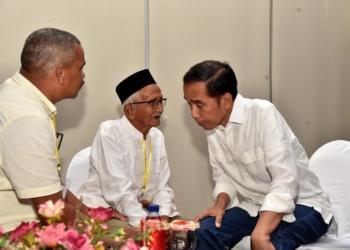 Saat Nyak Sandang Kembali Berjumpa Presiden Jokowi
