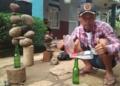 Gedo, Penyuka Seni Menumpuk Batu, Bertekad Jadikan Tangsel Pusat Balancing Art