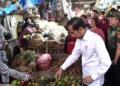 Beli Kedondong dan Jeruk Nipis, Presiden Jokowi Blusukan ke Pasar Minggu