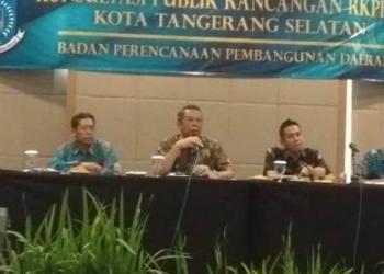Bappeda Tangsel Gelar Konsultasi Publik Rancangan RKPD 2020