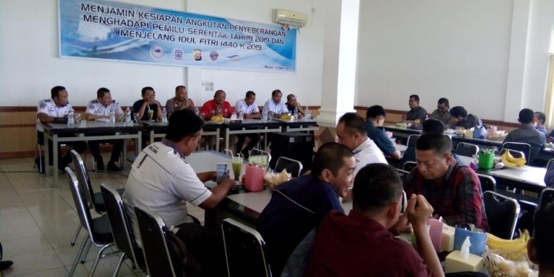 Antisipasi Pemilu Serentak 2019 dan Libur Panjang, GAPASDAP Gelar Rapat Koordinasi Dengan Pemangku Kepentingan di Pelabuhan Merak Kota Cilegon