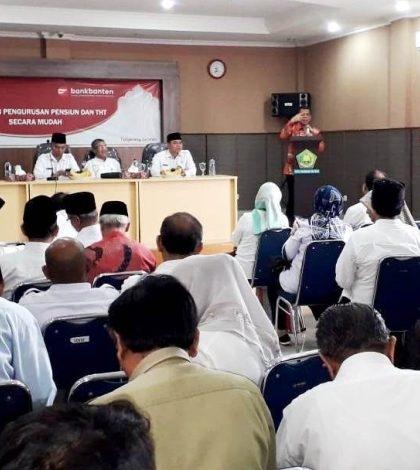 Kemenag Tangsel Bekerjasama Dengan Bank Banten Adakan Sosialisasi Pengurusan Pensiun dan Tunjangan Hari Tua