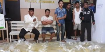 Polsek Atinggola sita 1,1 ton minuman keras dari Sulut