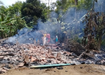 Rumah Janda Jompo Habis Terbakar