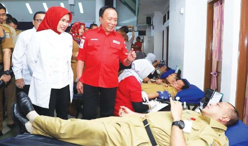 Pertama di Indonesia, Donor Darah Serentak di 18 Lokasi di Banten