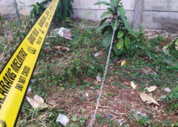 Lokasi penemuan mayat janin di Pondok Aren. (PHD)