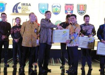 Penghargaan Indonesia Road Safety Award (IRSA) tahun 2019. (Ist)