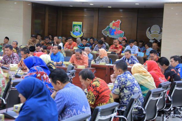 Rapat evaluasi Pemkot Tangerang. (Ist)