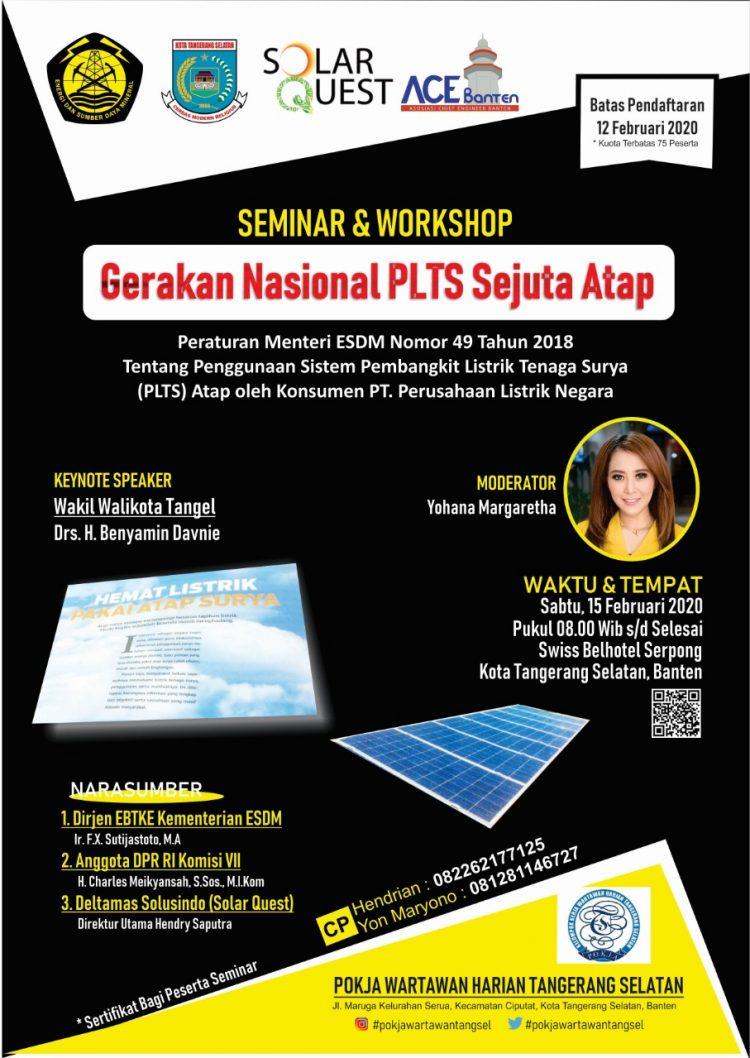 Seminar dan Workshop Gerakan Nasional PLTS Sejuta Atap. (Ist)