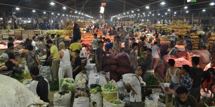Aktifitas di Pasar Tanah Tinggi, Kota Tangerang. (NET)