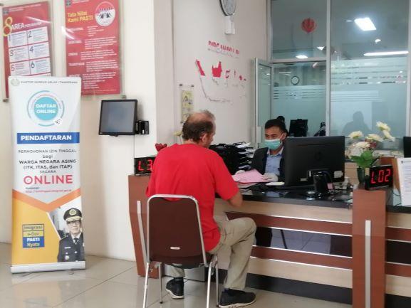 Pelayanan di Kantor Imigrasi Kelas I Non TPI Tangerang. (KEY)