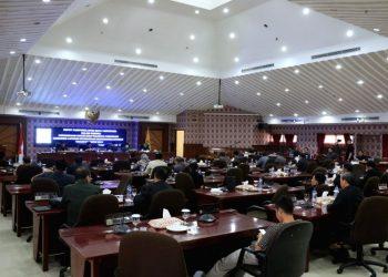 Suasana rapat paripurna DPRD Kota Tangerang. (NET)