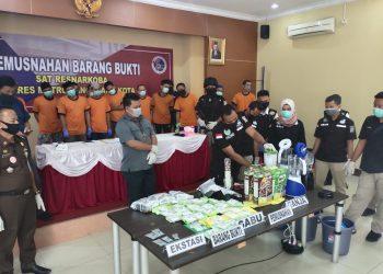 Ekspose kasus narkoba Polrestro Tangerang. (IST)