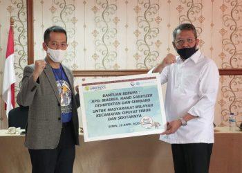 Bantuan penanganan Covid-19 di Kota Tangsel. (IST)