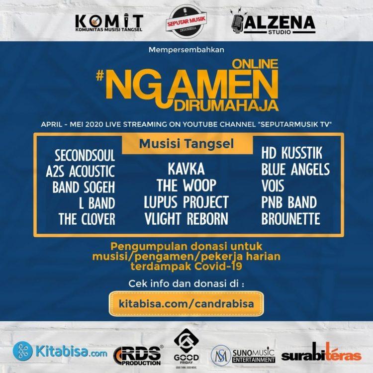 Komunitas Musisi Tangsel galang dana covid-19 lewat Ngamen Online. (IST)