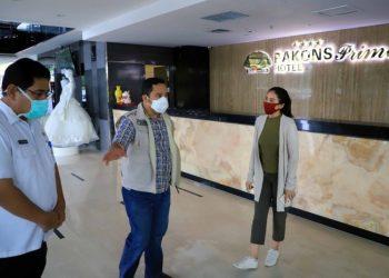 Walikota Tangerang Arief R Wismansyah saat di Hotel Pakons. (IST)