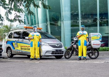 Layanan service Honda untuk tim medis covid-19. (IST)