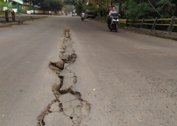 Kondisi Jembatan Jalentreng, Serpong, Kota Tangsel. (PHD)