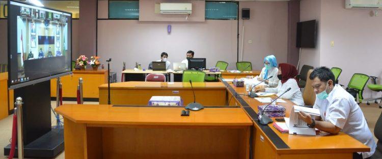 Rapat evaluasi covid-19. (IST)