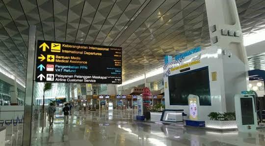 KOndisi di Bandara Soekarno Hatta. (NET)