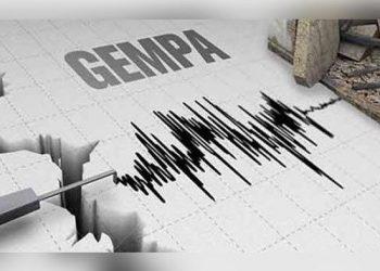 Ilustrasi gempa tektonik. (NET)