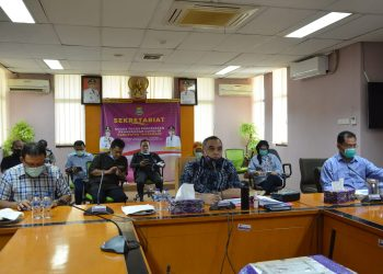 Rapat perpanjangan PSBB Banten. (IST)