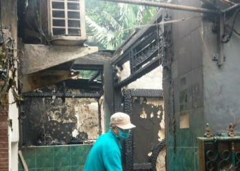Kebakaran rumah di Ciputat, Tangsel. (PHD)