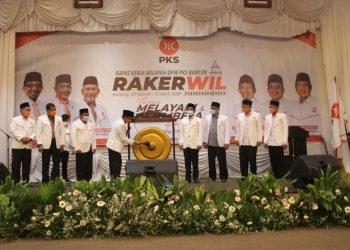 Rakerwil PKS Banten di Kota Serang, Minggu, (11/4/2021). (IST)
