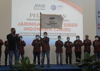 Pelantikan Pengurus Daerah (Pengda) JMSI Banten. (RAY)