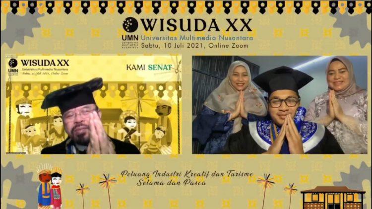Wisuda daring Universitas Multimedia Nusantara (UMN). (IST)